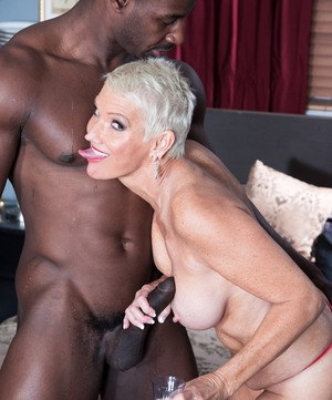 image Sexy cougar fucking with young men